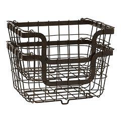 Mikasa Gourmet Basics 2 pc General Store Basket Set