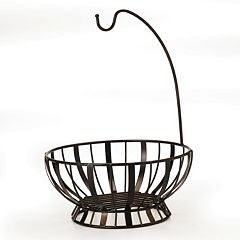 Mikasa Gourmet Basics Band & Stripe Banana Hook Basket