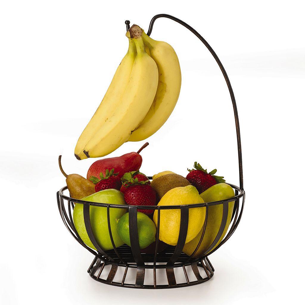 Mikasa Gourmet Basics Band & Stripe Banana Hook Basket