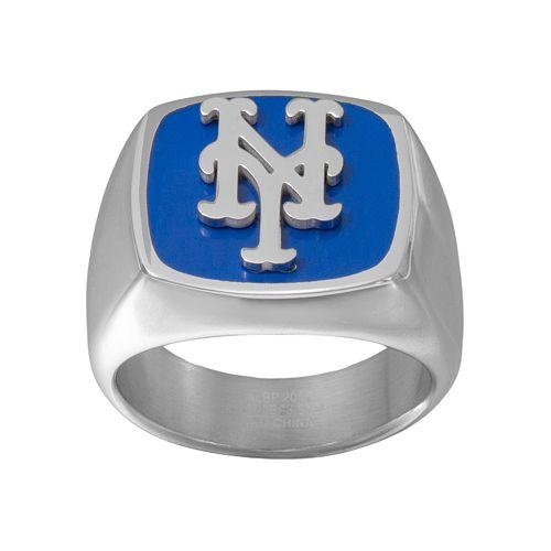 Men's Stainless Steel New York Mets Ring