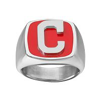 Men's Stainless Steel Cleveland Indians Ring