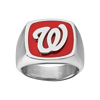 Men's Stainless Steel Washington Nationals Ring