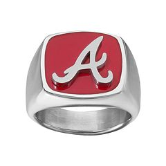 Men's Stainless Steel Atlanta Braves Ring