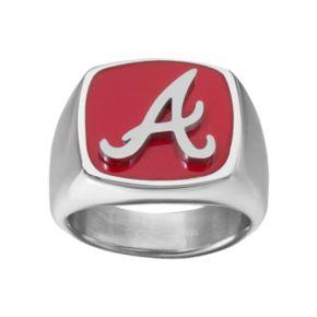Men's Stainless Steel Atlanta Braves Ring