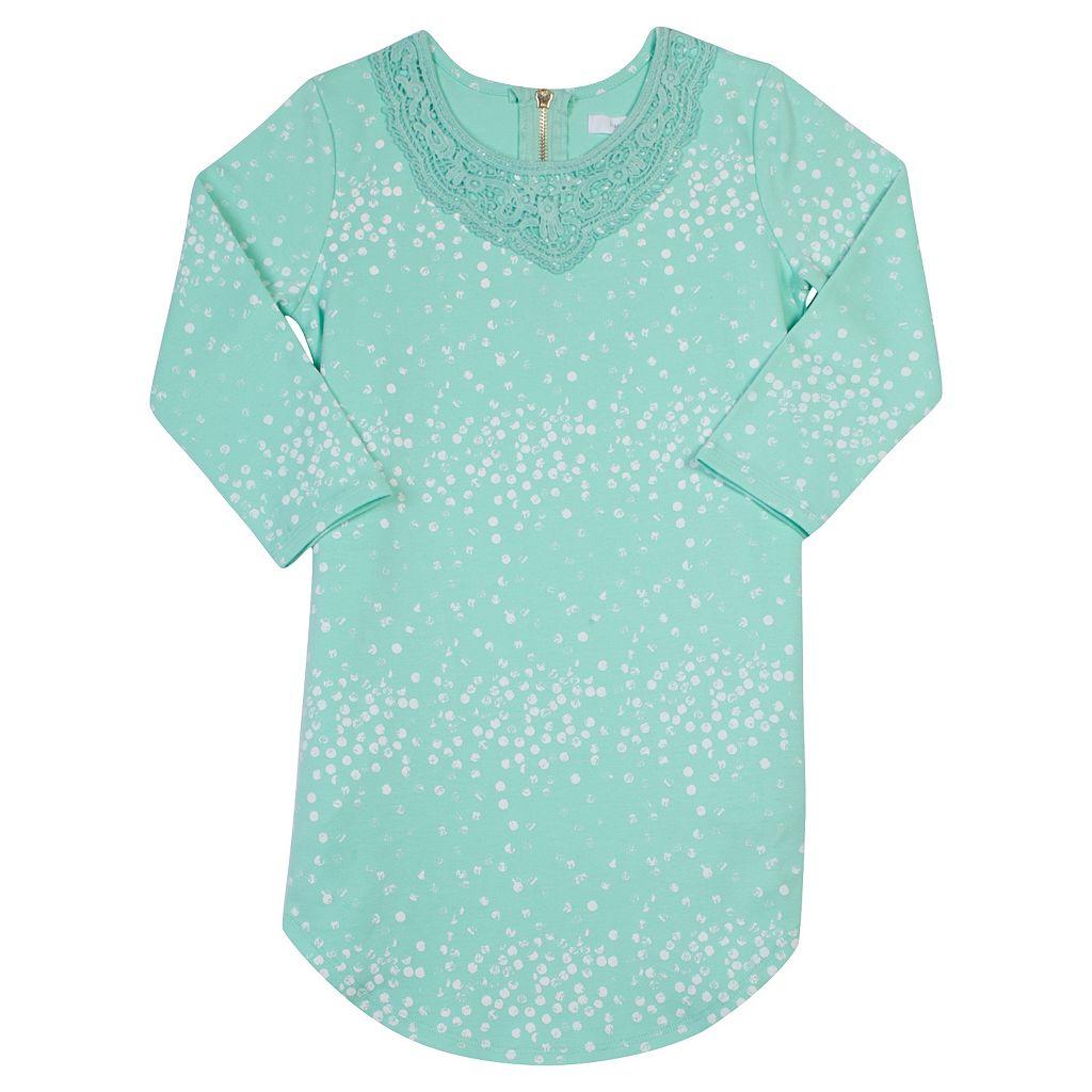 Girls 7-16 Harper & Elliott Crochet Shift Dress