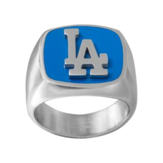 Men's Stainless Steel Los Angeles Dodgers Ring