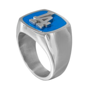 Men's Stainless Steel Los Angeles Dodgers Ring