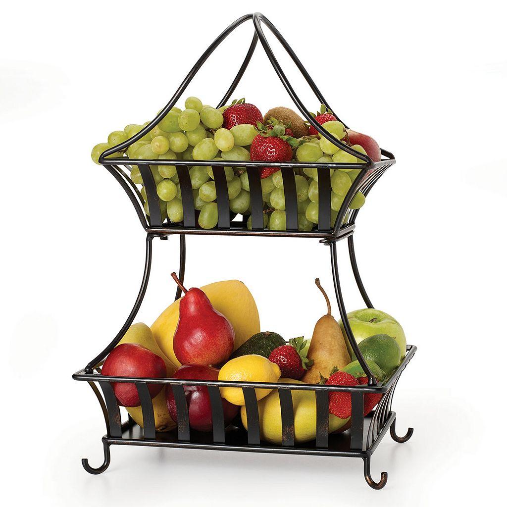 Mikasa Gourmet Basics Bristol 2-Tier Basket