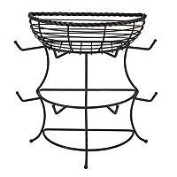 Mikasa Gourmet Basics Rope Mug Tree & Basket