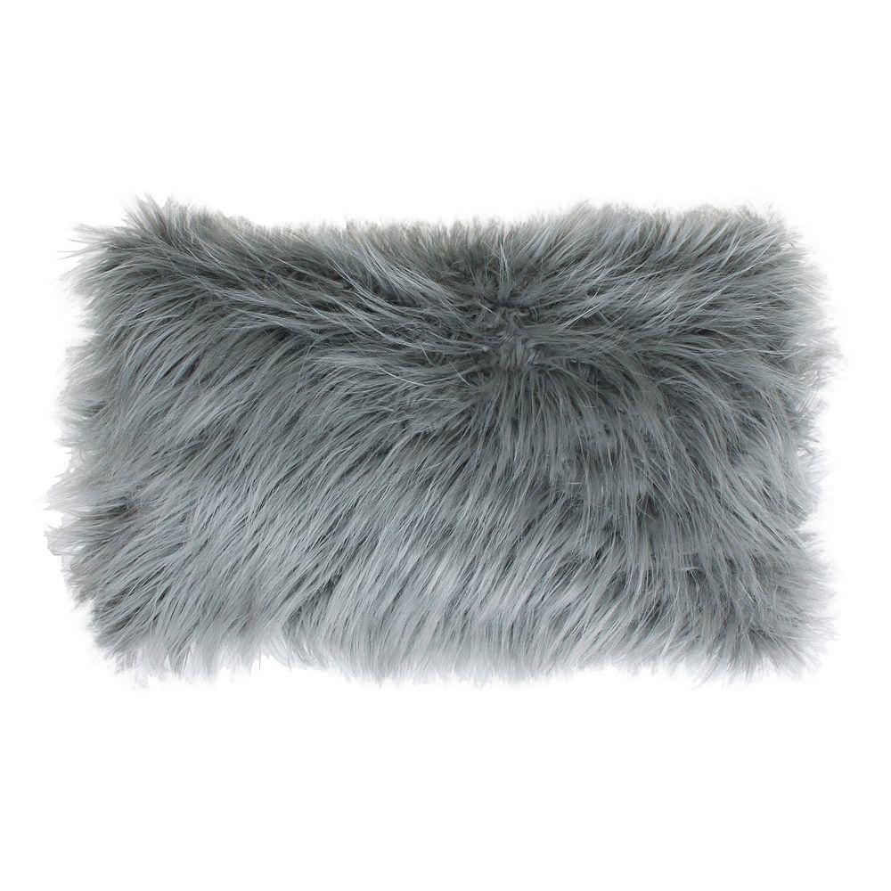 Thro by Marlo Lorenz Keller Faux Fur Oblong Throw Pillow