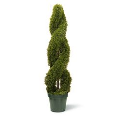 National Tree Company 48' Artificial Double Cedar Spiral Plant