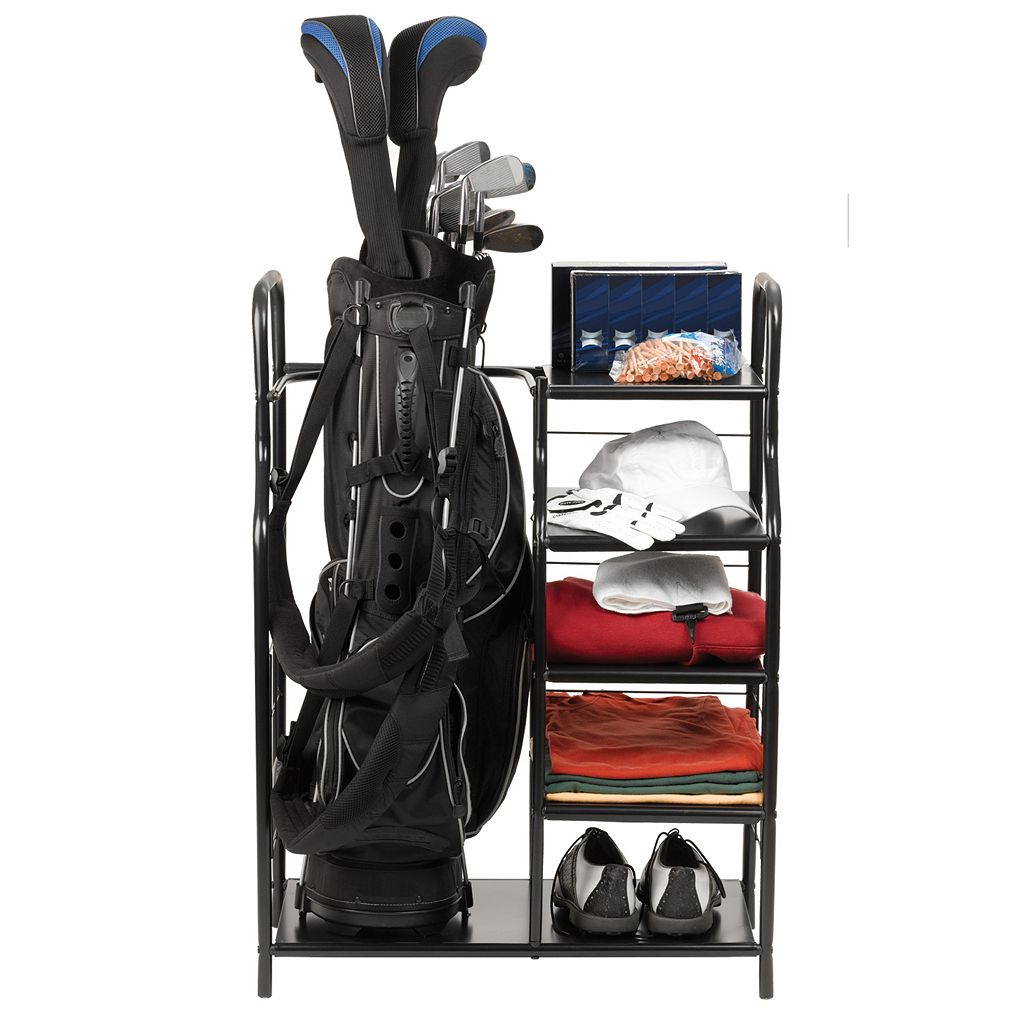 JEF World of Golf Golf Bag & Accessories Metal Shelf Organizer