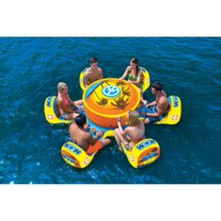WOW Sports Octo Island 6-Person Inflatable Water Float