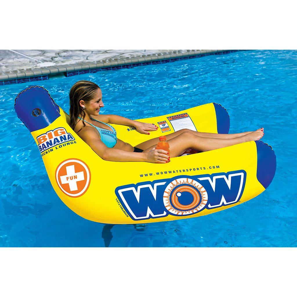 WOW Sports Big Banana Lounge Water Float