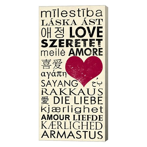 Metaverse Art Love Around the World Canvas Wall Art