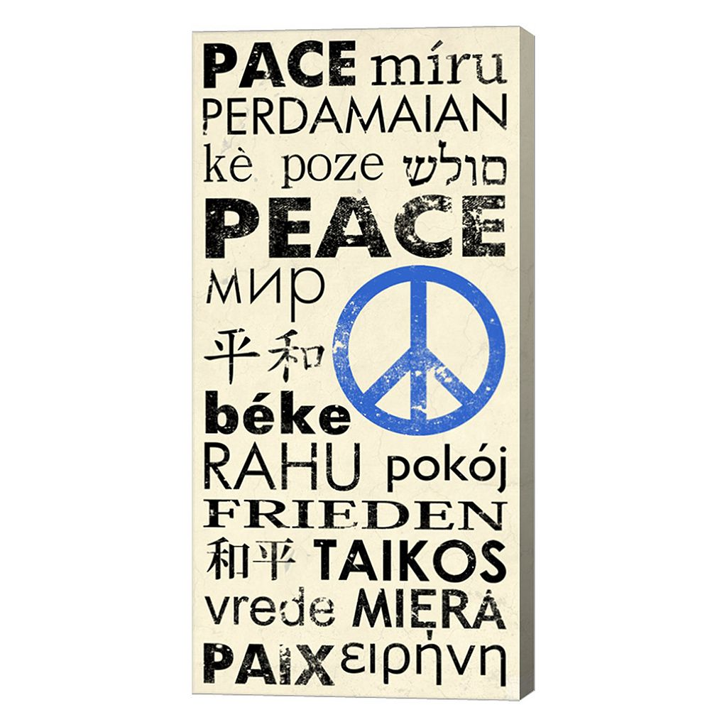 Metaverse Art Peace Around the World Canvas Wall Art