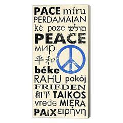 Metaverse Art Peace Around the World Canvas Wall Art