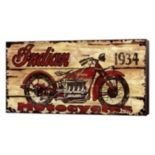 "Metaverse Art ""Indian Motorcycles"" Canvas Wall Art"