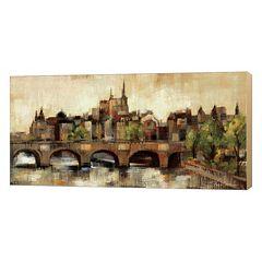 Metaverse Art Paris Bridge II Canvas Wall Art
