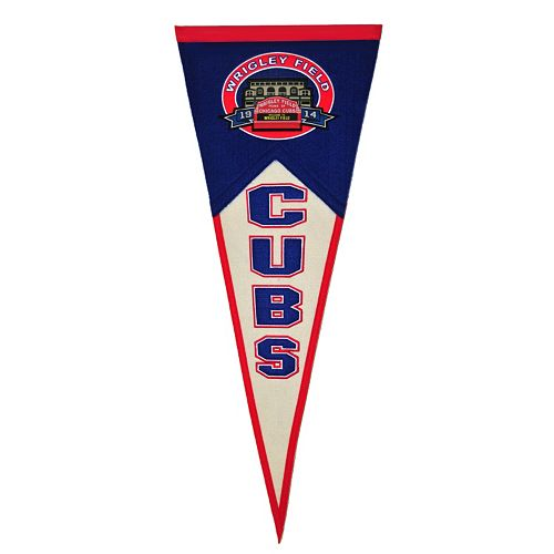 Chicago Cubs Wrigley Field Traditions Pennant