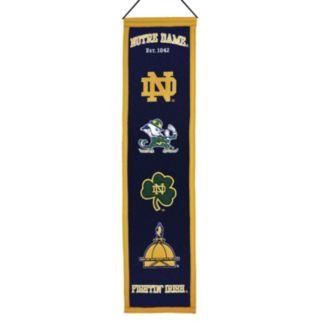 Notre Dame Fighting Irish Heritage Banner