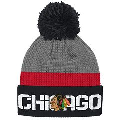Adult Reebok Chicago Blackhawks Cuffed Pom Knit Hat