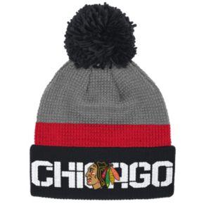 Adult Reebok Chicago Blackhawks Cuffed Pom Knit Hat