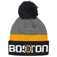 Adult Reebok Boston Bruins Cuffed Pom Knit Hat