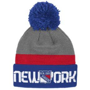 Adult Reebok New York Rangers Cuffed Pom Knit Hat