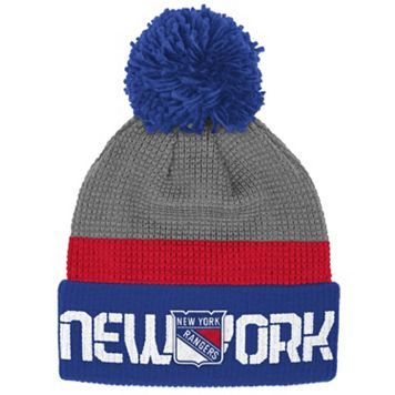 Adult Reebok New York Rangers Cuffed Pom Knit Hat