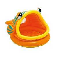 Intex Lazy Fish Shade Inflatable Baby Pool