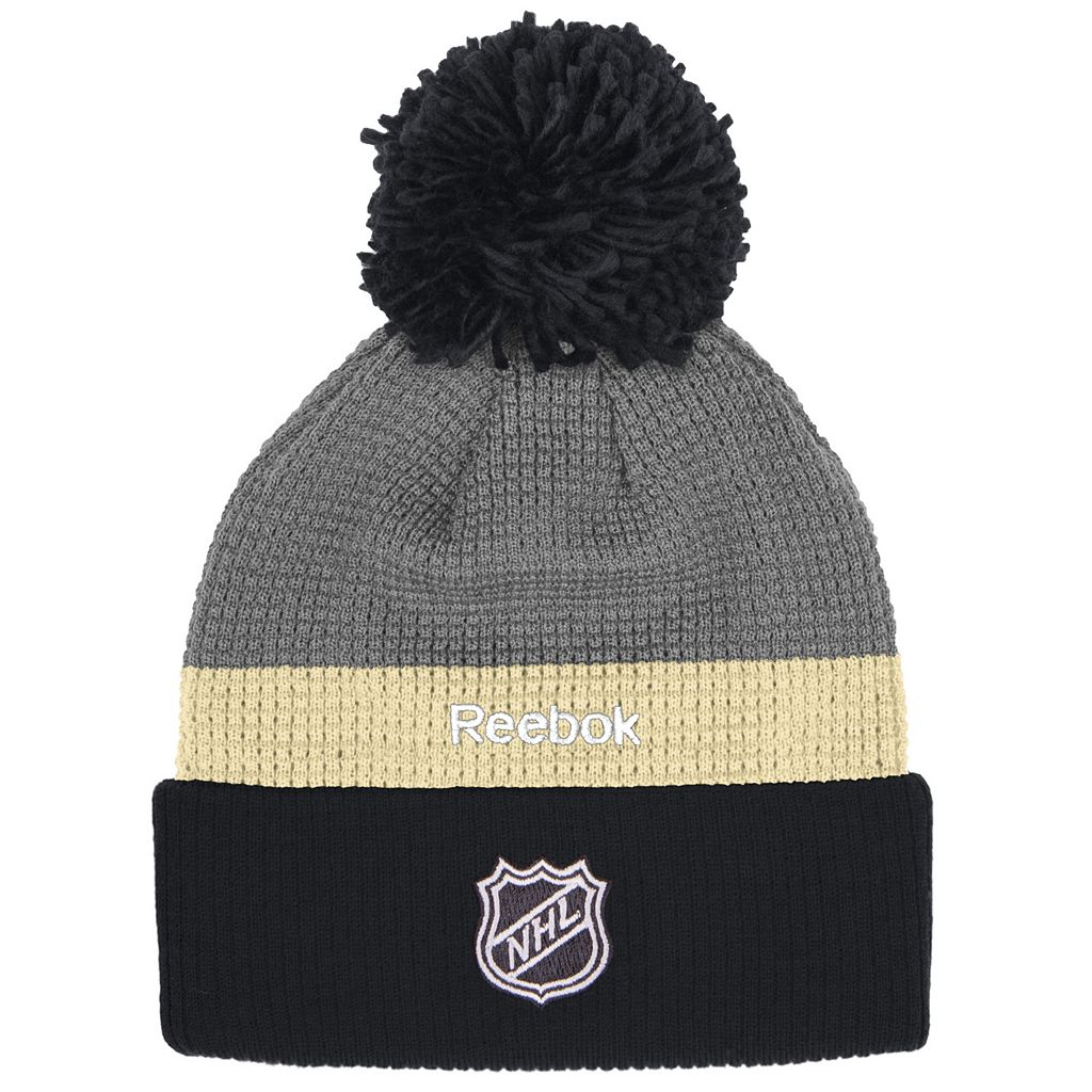 Adult Reebok Pittsburgh Penguins Cuffed Pom Knit Hat