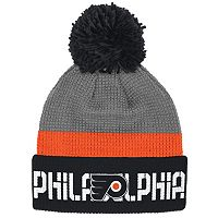 Adult Reebok Philadelphia Flyers Cuffed Pom Knit Hat