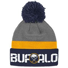Adult Reebok Buffalo Sabres Cuffed Pom Knit Hat