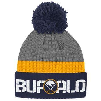 Adult Reebok Buffalo Sabres Cuffed Pom Knit Hat
