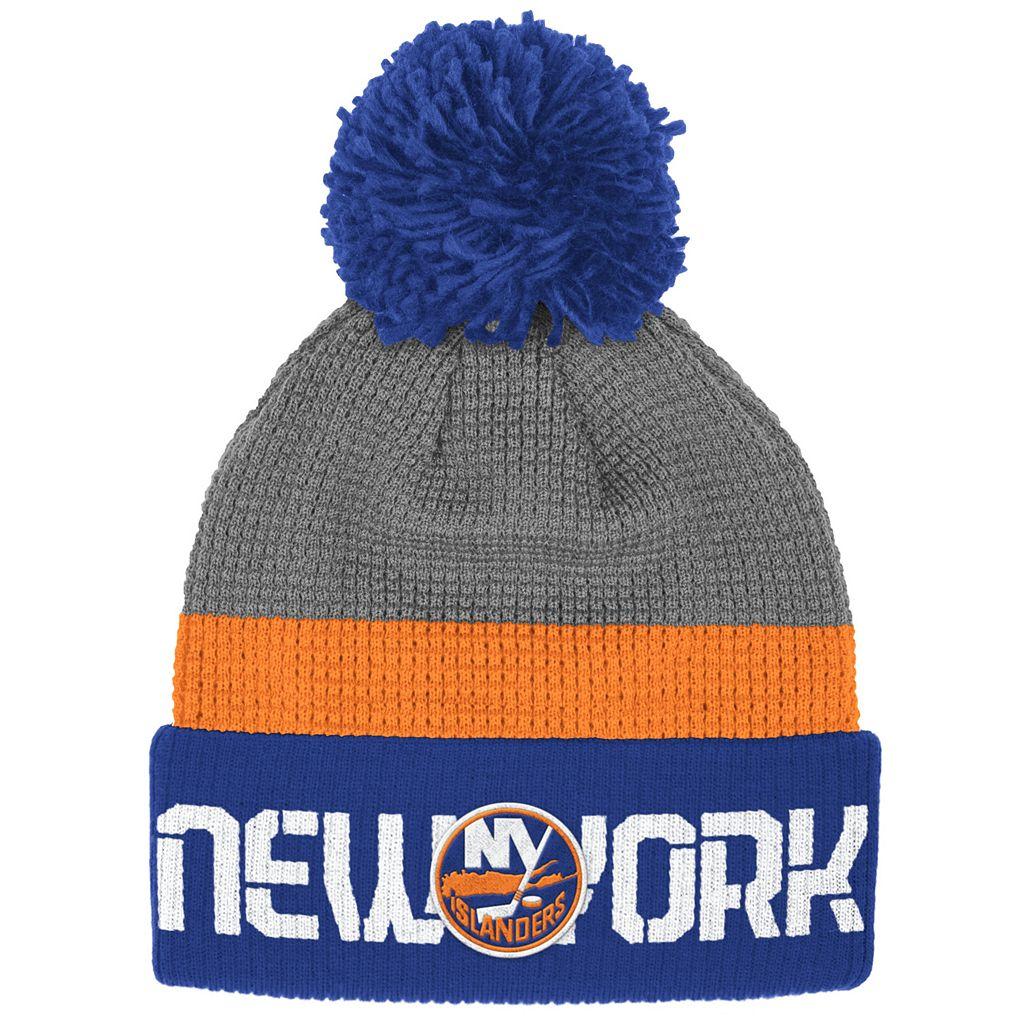 Adult Reebok New York Islanders Cuffed Pom Knit Hat