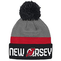 Adult Reebok New Jersey Devils Cuffed Pom Knit Hat