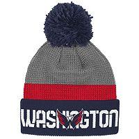 Adult Reebok Washington Capitals Cuffed Pom Knit Hat