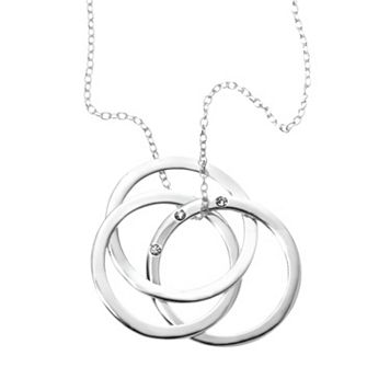 Sterling Silver Triple-Circle Pendant