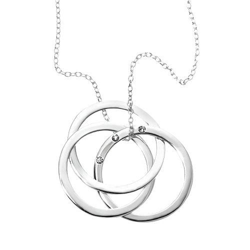 Sterling Silver Triple-Circle Pendant