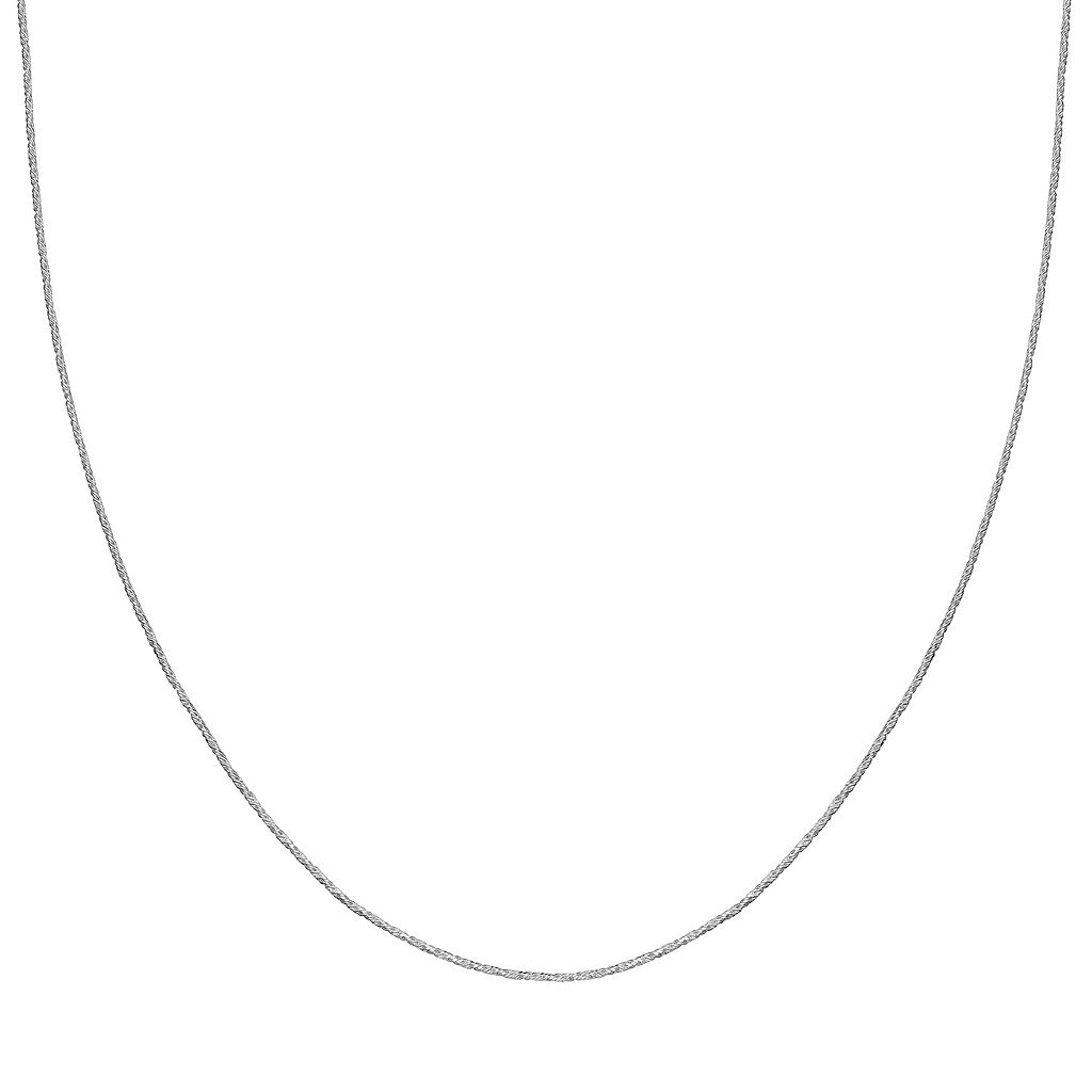 Sterling Silver Sparkle Chain Necklace - 18-in.