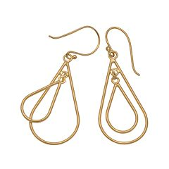 24k Gold-Over-Silver Double Teardrop Earrings