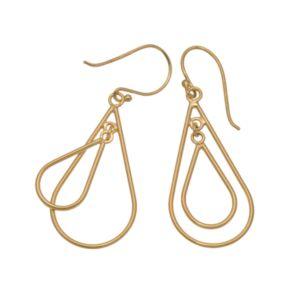 24k Gold-Over-Silver Double Teardrop Earrings