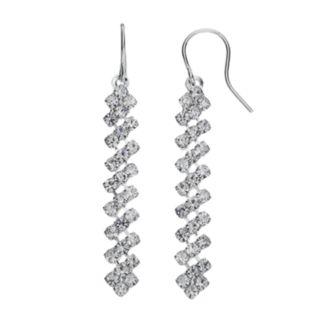 Askew Linear Drop Earrings