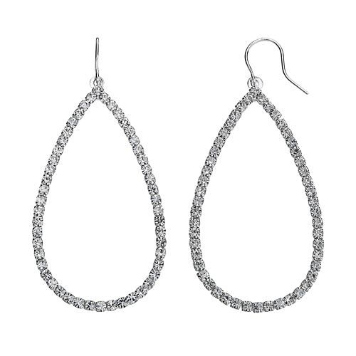 Simulated Crystal Teardrop Earrings
