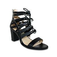 Olivia Miller Valetta Women's Lace-Up Block-Heel Sandals
