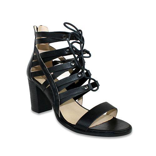 Olivia Miller Valetta Women's Lace-Up Block-Heel Sandals