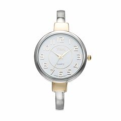 Vivani Women's Two Tone Cuff Watch