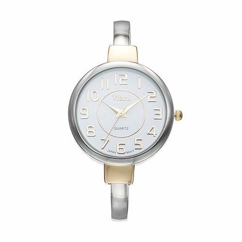 Vivani Women's Two Tone Cuff Watch