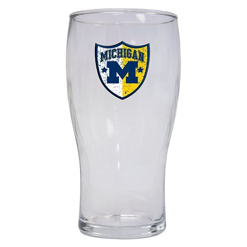 Michigan Wolverines 2-Pack Pilsner Glass Set